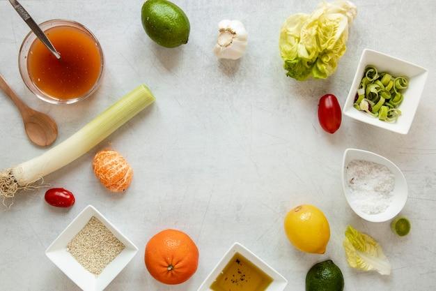 Gemüse und obst rahmen