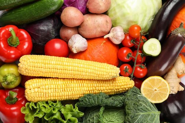 Gemüse und obst textur insgesamt ganz nah