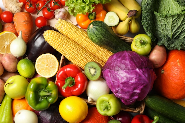 Gemüse und obst textur