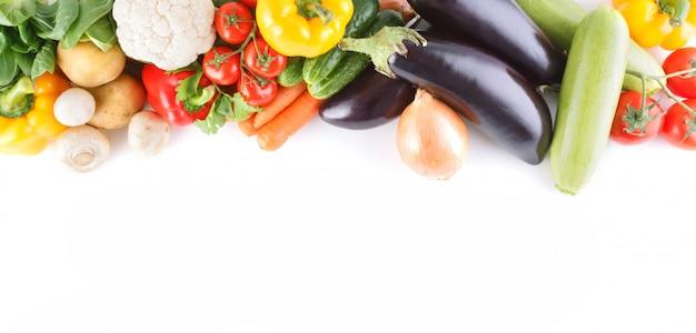 Gemüsenahaufnahme mit platz für text.