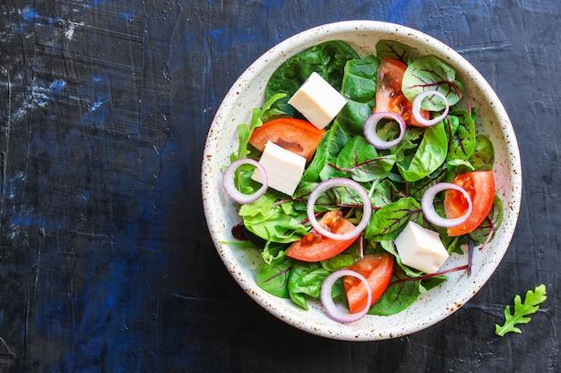 Gemüsesalat griechischer käse vegetarischer snack
