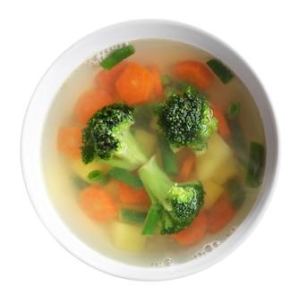 Gemüsesuppe isolierte draufsicht