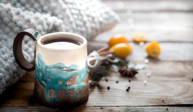 Gemütliche tasse tee