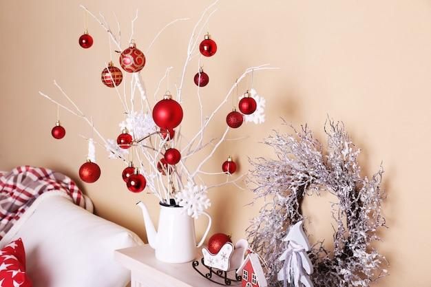 Gemütliche weihnachtliche inneneinrichtung