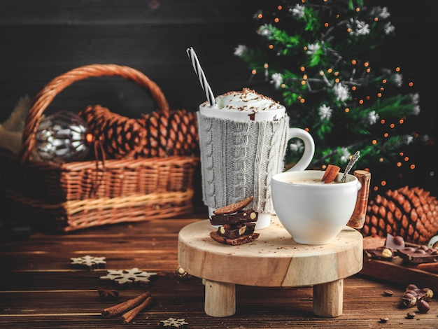 Gemütliche weihnachtskomposition