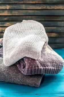 Gemütlicher und weicher pullover in einer schönen verzierung