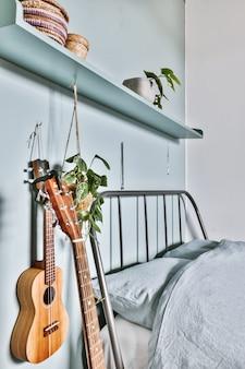 Gemütliches schlafzimmerdesign