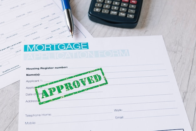 Genehmigter antrag für immobilien