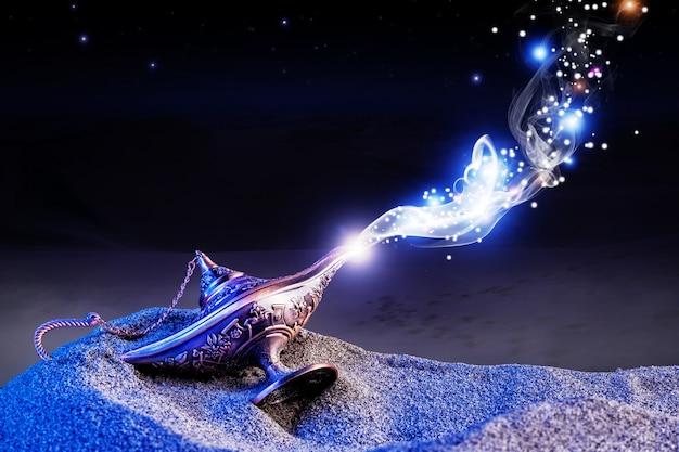 Genie magische lampe