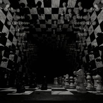 Genießen sie in chess board background für tapeten in einer herausfordernden spielszene