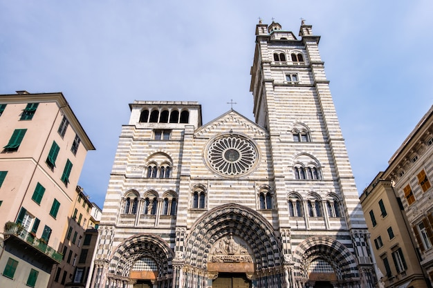 Genoa cathedral bei tageslicht