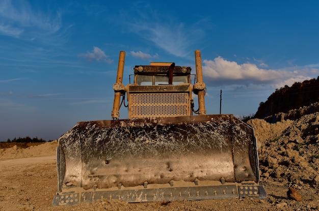 Geologie bulldozer bagger bauindustrie