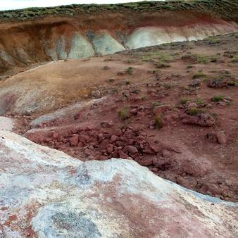 Geologische geothermische minerallandschaft