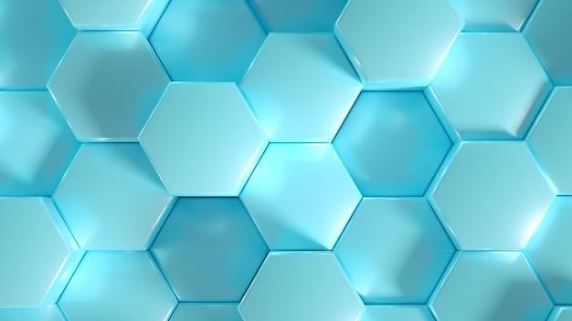 Geometrie sechseck hintergrund. 3d-illustration, 3d-rendering.
