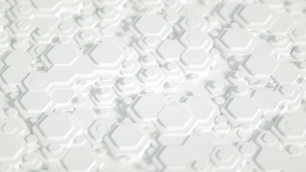 Geometrie sechseck hintergrund 3d illustration