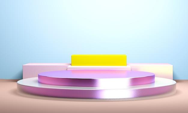 Geometrische abstrakte auslegung für hintergrund, 3d übertragen, tendenzplakat.