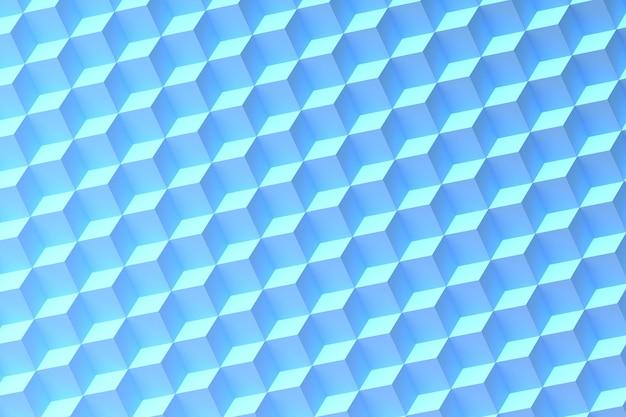 Geometrische formen auf blauem hintergrund