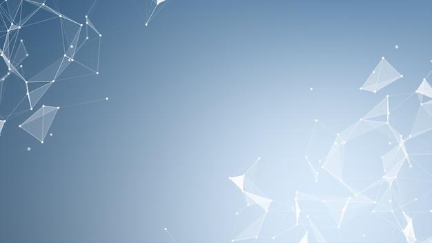 Geometrische formen des abstrakten plexus. verbindung und web-konzept. digitale kommunikation.