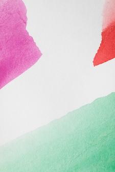 Geometrische formen des aquarells mit weißem hintergrund