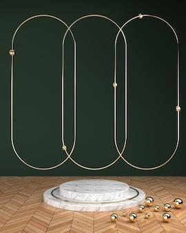 Geometrische kreisförmige plattform
