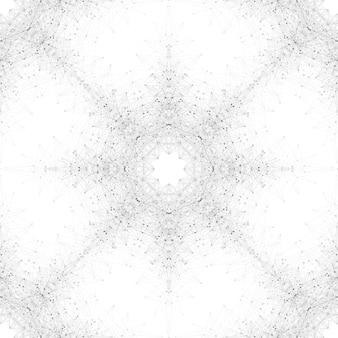 Geometrische nahtlose abbildung. molekül und kommunikation. verbundene linien mit punkten. konzept der wissenschaft, chemie, biologie, medizin, technologiemuster.