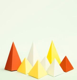 Geometrische papierelemente für den kopierbereich