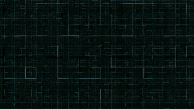 Geometrische sich wiederholende grüne quadrate auf schwarzem hintergrund