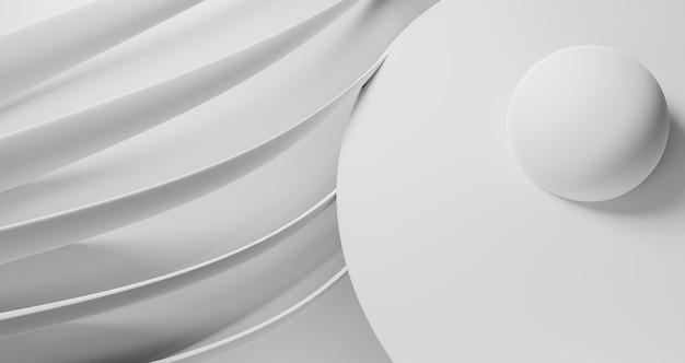 Geometrische tapete mit minimalistischen formen