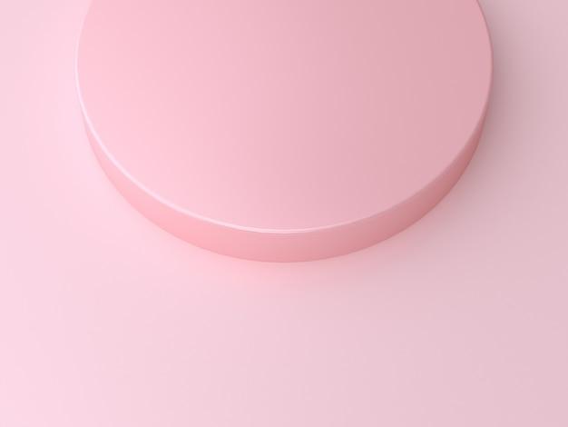Geometrische wiedergabe des kreisform-rosas 3d des minimalen abstrakten hintergrundes