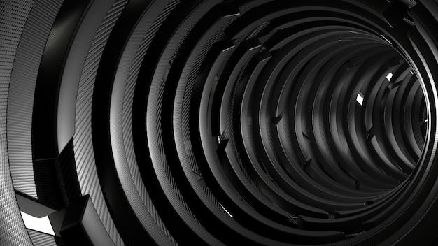 Geometrischer abstrakter hintergrund 3d