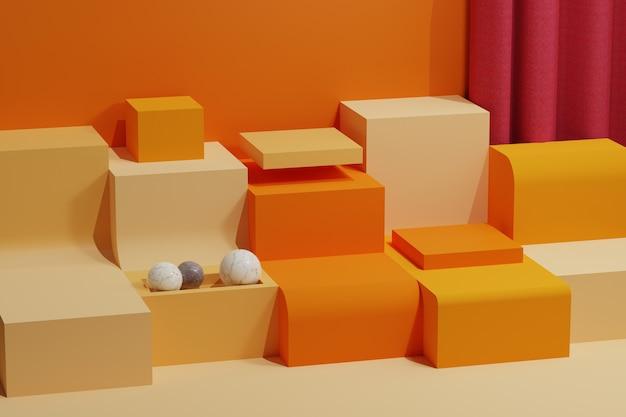 Geometrischer abstrakter hintergrund der 3d-darstellung