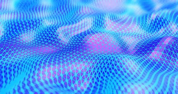 Geometrischer abstrakter neonhintergrund. 3d-rendering