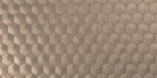 Geometrischer abstrakter sechseckiger tapeten-hintergrund 3d