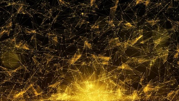 Geometrischer goldfarbzusammenfassungshintergrund