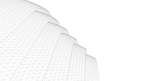 Geometrischer hintergrund, abstrakte skizze, architektur, konstruktion, drahtmodell