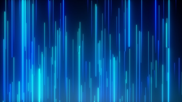 Geometrischer hintergrund der abstrakten richtungsneonlinien