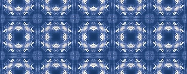 Geometrischer hintergrund der aquarellkeramikfliese. blaues nahtloses muster.