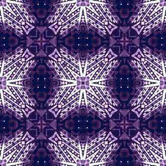 Geometrischer hintergrund der aquarellkeramikfliese. lila nahtloses muster.
