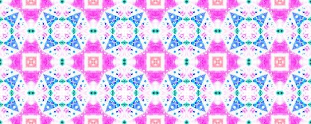 Geometrischer hintergrund der aquarellkeramikfliese. rosa, blaues nahtloses muster.