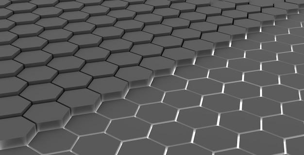 Geometrischer hintergrund der grauen hexagonzusammenfassung der technologie
