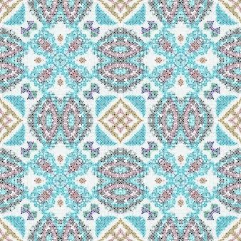 Geometrischer hintergrund der mosaikkeramikfliese. nahtloses muster.