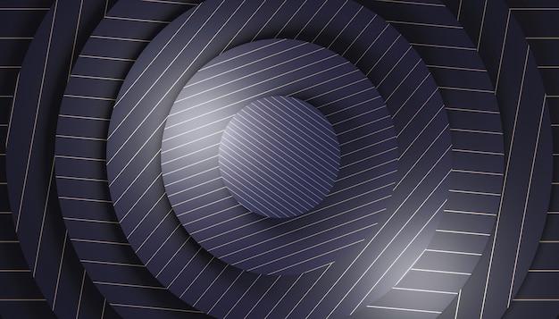 Geometrischer hintergrund mit konzentrischen kreisformen