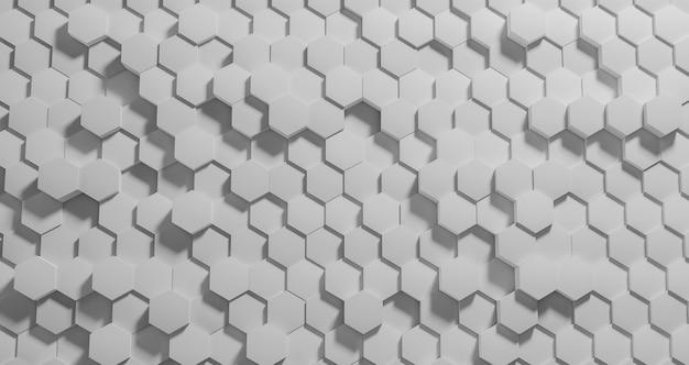 Geometrischer hintergrund mit sechseckigen formen