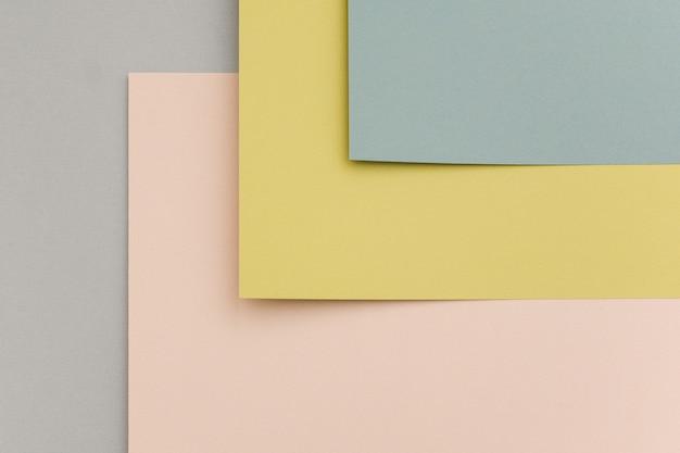 Geometrischer papierhintergrund, beschaffenheit von pastellfarben.