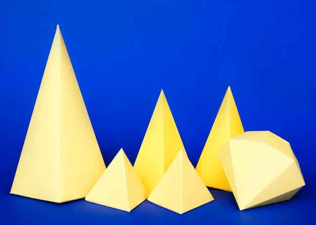 Geometrischer papierobjektsatz