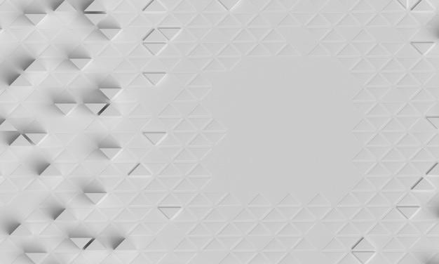 Geometrischer weißer hintergrund mit polygonalen formen