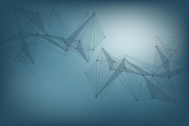 Geometrisches grafisches hintergrundmolekül und kommunikation. big-data-komplex mit verbindungen. perspektive hintergrund. minimales array big data. digitale datenvisualisierung. wissenschaftliche abbildung.