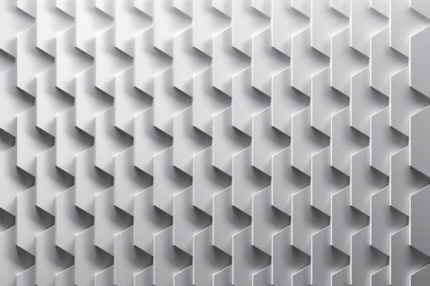 Geometrisches muster mit ordentlich angeordneten sich wiederholenden schichten. abstrakter hintergrund mit flachen blättern in schwarzweiss