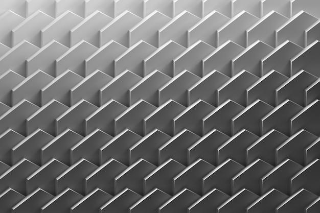 Geometrisches muster mit ordentlich angeordneten sich wiederholenden schichten. abstrakter hintergrund mit flachen diagonalen blättern in schwarzweiss