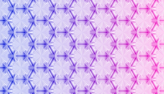 Geometrisches muster mit rosafarbener und blauer steigung